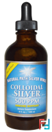 Colloidal Silver, 500 ppm, Natural Path Silver Wings, 4 fl oz (120 ml)