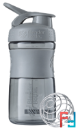 BlenderBottle, SportMixer Tritan Grip, Pebble Grey, Sundesa, 20 oz