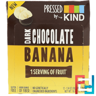 Pressed by KIND, Dark Chocolate Banana, KIND Bars, 12 Fruit Bars, 1.35 oz (38 g) Each