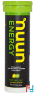 Effervescent Electrolyte & Caffeine Supplement, Fresh Lime, Nuun, Energy, 10 Tablets