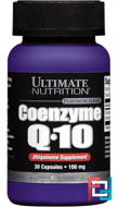 Coenzyme Q10 100% Premium, Ultimate Nutrition, 100 mg, 30 caps
