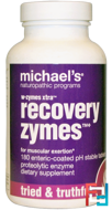 W-Zymes Xtra, Recovery Zymes, Michael's Naturopathic, 180 Enteric-Coated Tablets