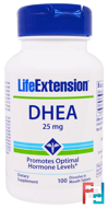 DHEA, 25 mg, Life Extension, 100 Dissolve in Mouth Tablets