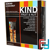 Fruit & Nut Bars, Almond & Coconut, KIND Bars, 12 Bars, 1.4 oz (40 g) Each