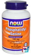 Phosphatidyl Serine, Now Foods, 100 mg, 100 Softgels
