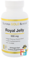Royal Jelly, California Gold Nutrition, 500 mg, 120 Veggie Caps