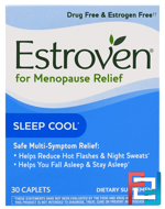 Menopause Relief, Sleep Cool, Estroven, 30 Caplets