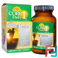 Core Daily-1, Multivitamins, Men 50+, Country Life, 60 Tablets