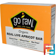 Go Raw, Organic, Real Live Apricot Bar, 10 Bars, 12 g Each