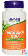 TestoJack 200, Now Foods, 60 Veggie Caps