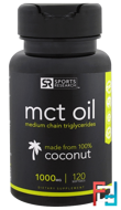 MCT Oil, Sports Research, 1000 mg, 120 Softgels