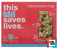 Kid, Chocolate Chip, This Bar Saves Lives, LLC, 5 Bars, 5.64 oz (160 g)