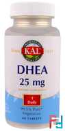 DHEA, 25 mg, KAL, 60 Tablets