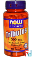 Tribulus, Sports, Now Foods, 500 mg, 100 сapsules