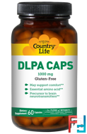 DLPA Caps, Country Life, 1000 mg, 60 Capsules