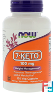 7-Keto, 100 mg, Now Foods, 120 Veg Capsules