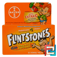 Children's Multivitamin, Plus Immune Support, Fruit Flavors, Flintstones, 60 Chewable Tablets