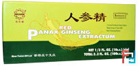 Red Panax Ginseng Extractum, Superior Trading Company, 10 Vials, 10 C.C.