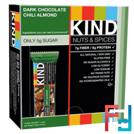 Nuts & Spices, Dark Chocolate Chili Almond, KIND Bars, 12 Bars, 1.4 oz (40 g) Each
