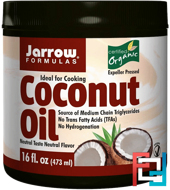 Organic Coconut Oil, Jarrow Formulas, 16 oz, 473 g
