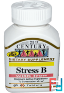 Stress B, with Iron, 21st Century, 66 Tablets