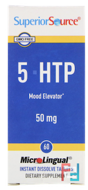 5-HTP, Superior Source, 50 mg, 60 MicroLingual Instant Dissolve Tablets