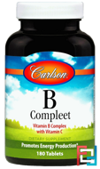B Compleet, Carlson Labs, 180 Tablets