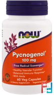 Pycnogenol, Now Foods, 100 mg, 60 Veg Capsules