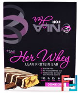 Her Whey, Lean Protein Bar, Cookie Dough, NLA for Her, 12 Bars, 2 oz (57 g) Each