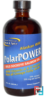 Alaskan Wild PolarPower, Wild Sockeye Salmon Oil, North American Herb & Spice Co., 8 fl oz (240 ml)