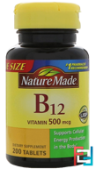 Vitamin B-12, Nature Made, 200 Tablets