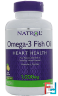 Omega-3 Fish Oil, Lemon Flavor, Natrol, 1000 mg, 150 Softgels