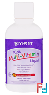 Kids Multi-Vitamin Liquid, Orange-Mango, MRM, 16 fl oz, 480 ml
