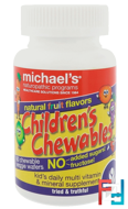 Children's Chewables, Natural Fruit Flavors, Michael's Naturopathic, 60 Chewable Veggie Tablets