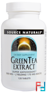 Green Tea Extract, Source Naturals, 500 mg, 120 Tablets