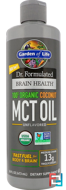 Dr. Formulated Brain Health, 100% Organic Coconut MCT Oil, Unflavored, Garden of Life, 16 fl oz, 473 ml
