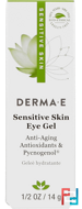 Sensitive Skin Eye Gel, Derma E, 1/2 oz, 14 g