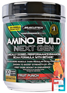Amino Build Next Gen BCAA Formula With Betaine, Muscletech, 9.83 oz, 279 g