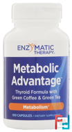 Metabolic Advantage, Thyroid Formula, Enzymatic Therapy, 100 Capsules