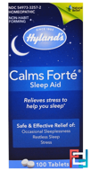 Calms Forte, Sleep Aid, Hyland's, 100 Tablets