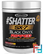 #Shatter, SX-7, Black Onyx, Ripped, Muscletech, 17.16 oz (487 g)