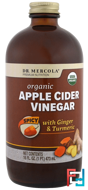 Organic Apple Cider Vinegar, Spicy, Dr. Mercola, 16 oz (473 ml)