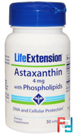 Astaxanthin, with Phospholipids, Life Extension, 4 mg, 30 Softgels