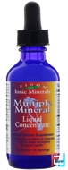 Ionic Minerals, Multiple Mineral, Liquid Concentrate, Eidon Mineral Supplements, 2 oz, 60 ml