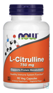 L-Citrulline, Now Foods, 750 mg, 90 Capsules