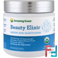 Beauty Elixir, Greens And Adaptogens, Amazing Grass, 4.9 oz (140 g)