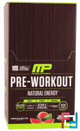 Pre-Workout, Natural Energy, Fresh Cut Watermelon, MusclePharm Natural, 12 Packets, 4.91 oz, 139.2 g