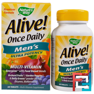 Alive! Once Daily, Men's Multi-Vitamin, Nature's Way, 60 Tablets