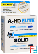 A-HD Elite, Solid, 2 Bottles, 30 Capsules Each
