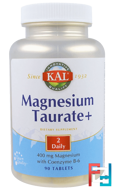 Magnesium Taurate+, KAL, 400 mg, 90 Tablets